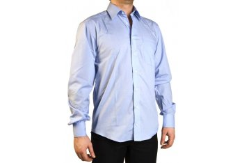 Shortening men's shirts with curved bottom finish