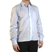 Shortening men's shirt with a straight bottom finish