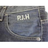 Monogrammed Jeans